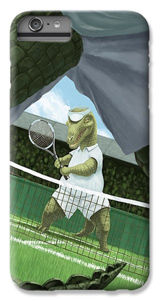 Crocodiles Playing Tennis At Wimbledon  IPhone 6s Plus Case by Martin Davey