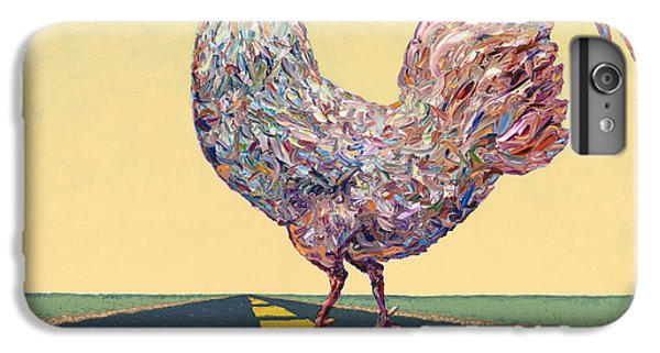Rooster iPhone 6s Plus Case - Crossing Chicken by James W Johnson