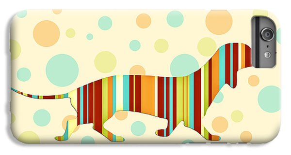 Dog iPhone 6s Plus Case - Dachshund Fun Colorful Abstract by Natalie Kinnear