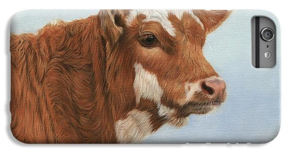 Cow iPhone 6s Plus Case - Daisy by David Stribbling