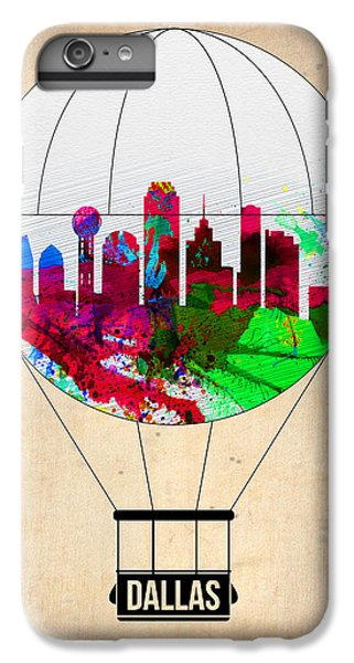 Dallas Skyline iPhone 6s Plus Case - Dallas Air Balloon by Naxart Studio