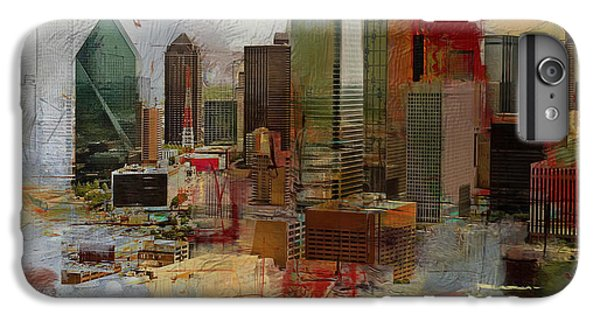 Dallas Skyline iPhone 6s Plus Case - Dallas Skyline 003 by Corporate Art Task Force