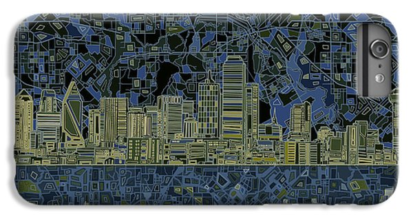 Dallas Skyline iPhone 6s Plus Case - Dallas Skyline Abstract 2 by Bekim Art
