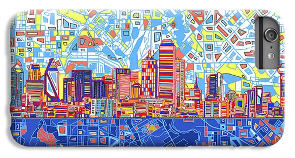Dallas Skyline iPhone 6s Plus Case - Dallas Skyline Abstract 5 by Bekim Art