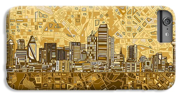 Dallas Skyline iPhone 6s Plus Case - Dallas Skyline Abstract 6 by Bekim Art