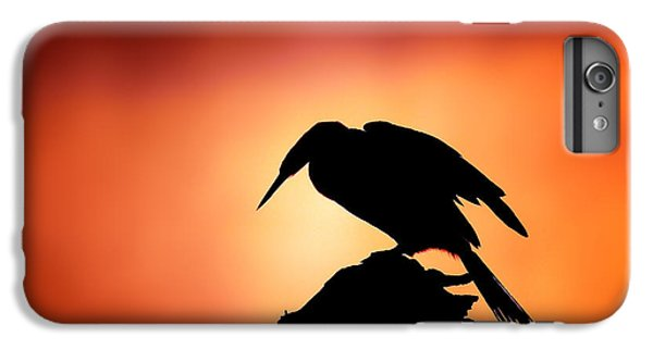 Anhinga iPhone 6s Plus Case - Darter Silhouette With Misty Sunrise by Johan Swanepoel