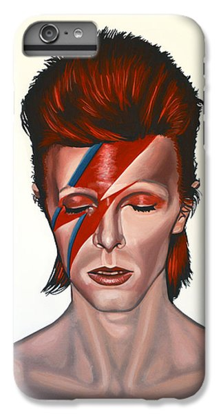 Musicians iPhone 6s Plus Case - David Bowie Aladdin Sane by Paul Meijering