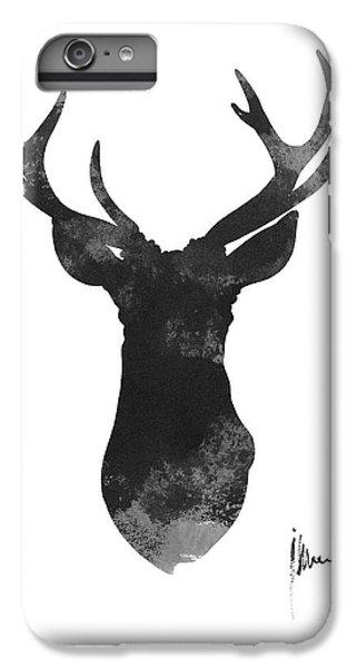 Deer iPhone 6s Plus Case - Deer Antlers Watercolor Painting Art Print by Joanna Szmerdt