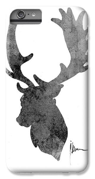 Deer iPhone 6s Plus Case - Deer Head Art Print Watercolor Painting by Joanna Szmerdt