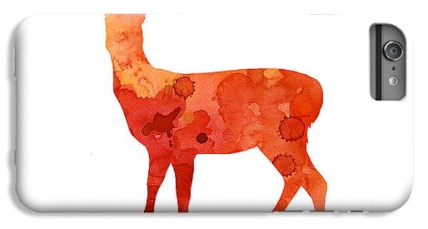Deer iPhone 6s Plus Case - Deer Portrait Artprint Watercolor Painting by Joanna Szmerdt