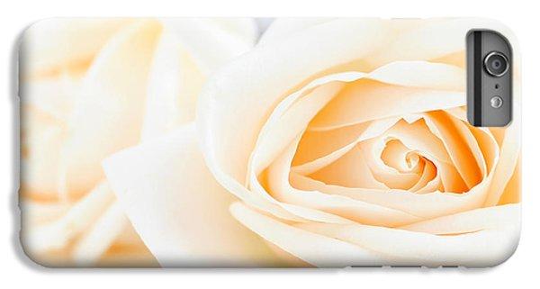 Rose iPhone 6s Plus Case - Delicate Beige Roses by Elena Elisseeva