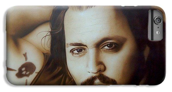Johnny Depp - ' Depp II ' IPhone 6s Plus Case by Christian Chapman Art
