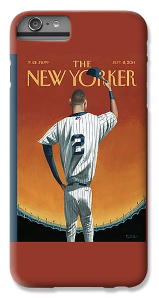 Baseball iPhone 6s Plus Case - Derek Jeter Bows by Mark Ulriksen