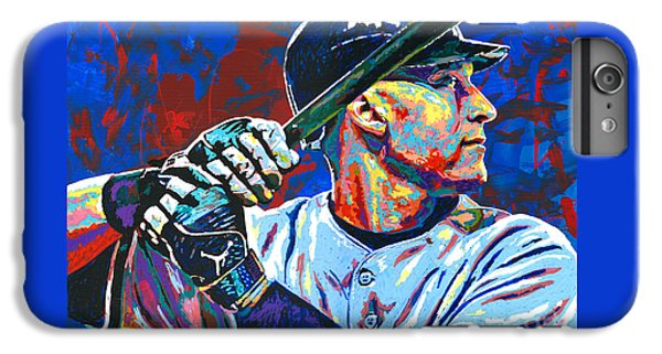 Derek Jeter IPhone 6s Plus Case by Maria Arango