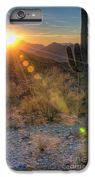Desert Sunset iPhone 6s Plus Case - Desert Sunset by Eddie Yerkish
