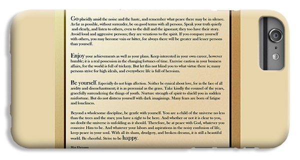 Desiderata Old English Square IPhone 6s Plus Case