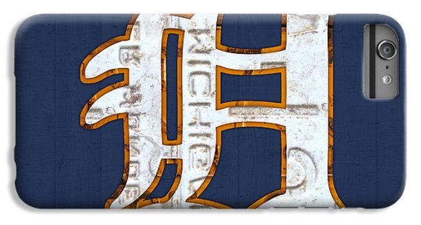 Detroit Tigers Baseball Old English D Logo License Plate Art IPhone 6s Plus Case