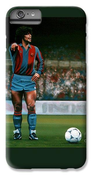 Barcelona iPhone 6s Plus Case - Diego Maradona by Paul Meijering