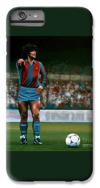Diego Maradona IPhone 6s Plus Case by Paul Meijering