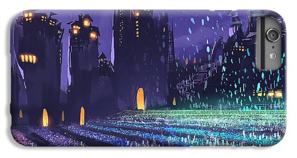 Castle iPhone 6s Plus Case - Digital Painting Showing A Field Of by Tithi Luadthong