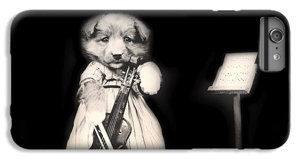 Violin iPhone 6s Plus Case - Dog Serenade by Mountain Dreams