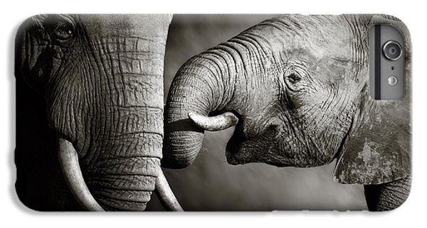 Elephant Affection IPhone 6s Plus Case by Johan Swanepoel