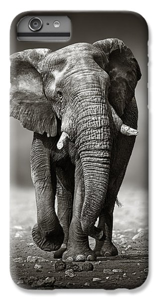 Animals iPhone 6s Plus Case - Elephant Approach From The Front by Johan Swanepoel