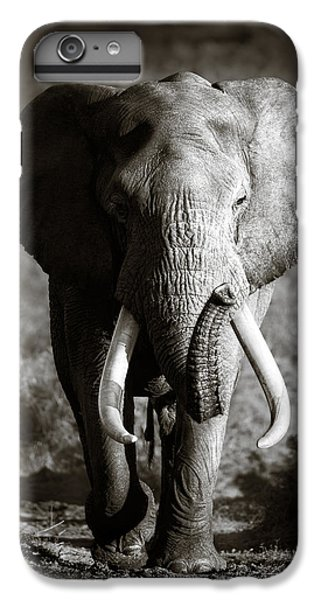 White iPhone 6s Plus Case - Elephant Bull by Johan Swanepoel