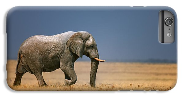 Bass iPhone 6s Plus Case - Elephant In Grassfield by Johan Swanepoel
