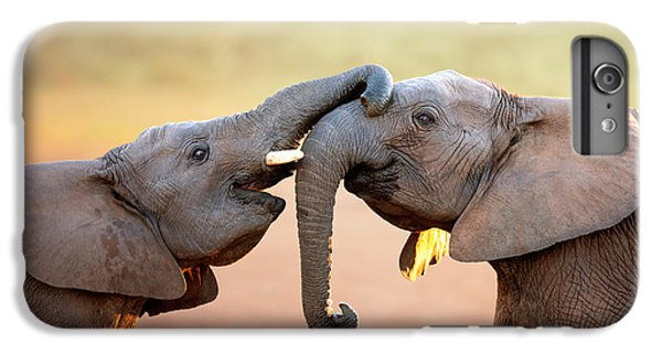 Bass iPhone 6s Plus Case - Elephants Touching Each Other by Johan Swanepoel