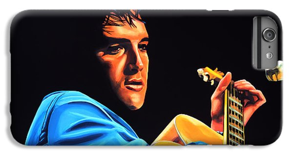 Rhythm And Blues iPhone 6s Plus Case - Elvis Presley 2 Painting by Paul Meijering