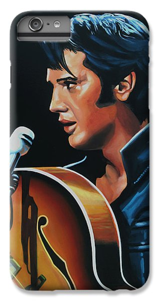 Rock And Roll iPhone 6s Plus Case - Elvis Presley 3 Painting by Paul Meijering