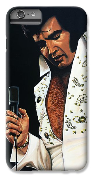 Rock And Roll iPhone 6s Plus Case - Elvis Presley Painting by Paul Meijering