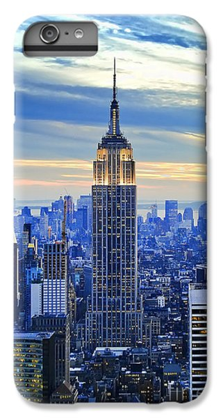 Times Square iPhone 6s Plus Case - Empire State Building New York City Usa by Sabine Jacobs