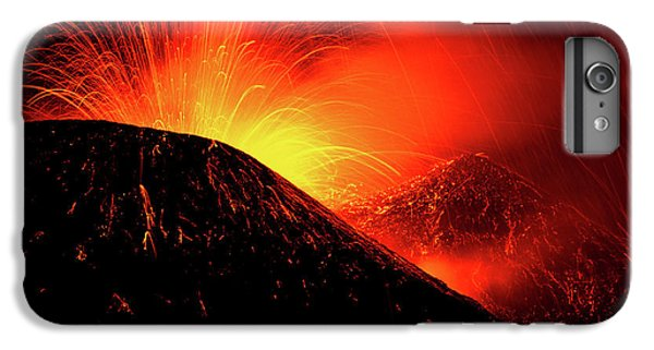 Explosion iPhone 6s Plus Case - Eruption By Night by Simone Genovese