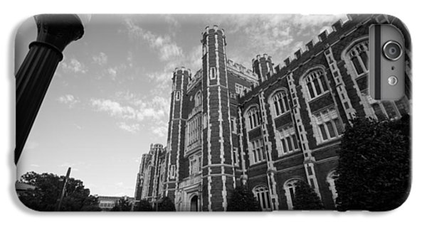 Oklahoma University iPhone 6s Plus Case - Evans Hall In Black And White by Nathan Hillis