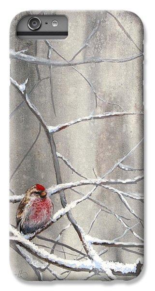 Eyeing The Feeder Alaskan Redpoll In Winter IPhone 6s Plus Case
