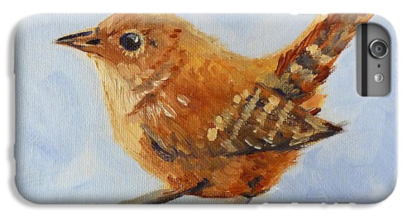Wren iPhone 6s Plus Case - Feathered by Nancy Merkle