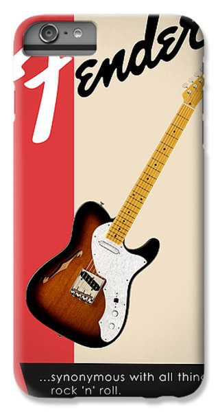 Guitar iPhone 6s Plus Case - Fender All Things Rock N Roll by Mark Rogan