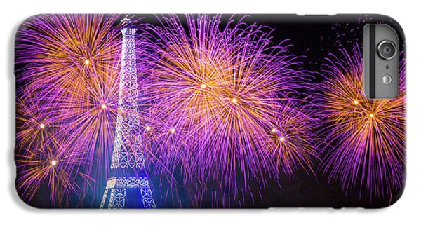 Explosion iPhone 6s Plus Case - Fireworks At The Eiffel Tower For The 14 July Celebration by Laurent Lothare Dambreville
