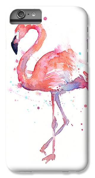 Animals iPhone 6s Plus Case - Flamingo Watercolor by Olga Shvartsur