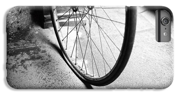 IPhone 6s Plus Case featuring the photograph Flat Bicycle Tire by Dave Beckerman