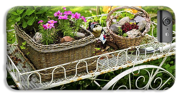 Flower Cart In Garden IPhone 6s Plus Case by Elena Elisseeva