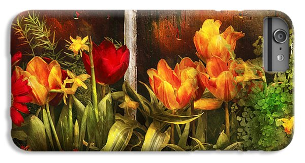 Garden iPhone 6s Plus Case - Flower - Tulip - Tulips In A Window by Mike Savad