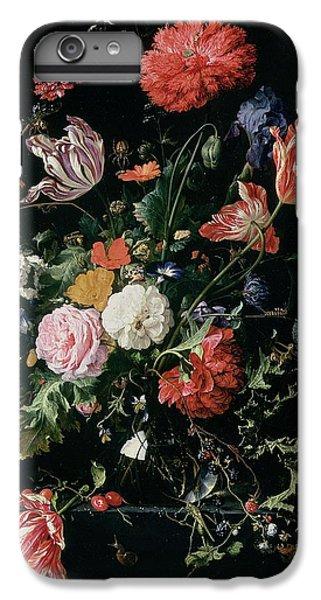 Grasshopper iPhone 6s Plus Case - Flowers In A Glass Vase, Circa 1660 by Jan Davidsz de Heem