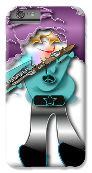 IPhone 6s Plus Case featuring the digital art Flute Player by Marvin Blaine