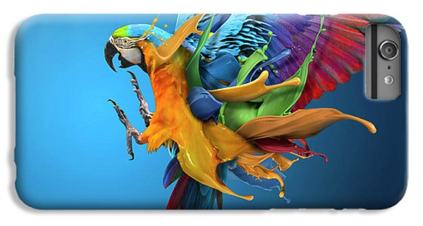 Parrot iPhone 6s Plus Case - Flying Colours by Sulaiman Almawash