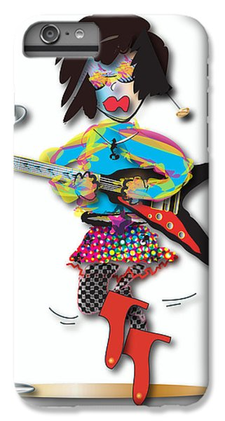 IPhone 6s Plus Case featuring the digital art Flying V Girl by Marvin Blaine