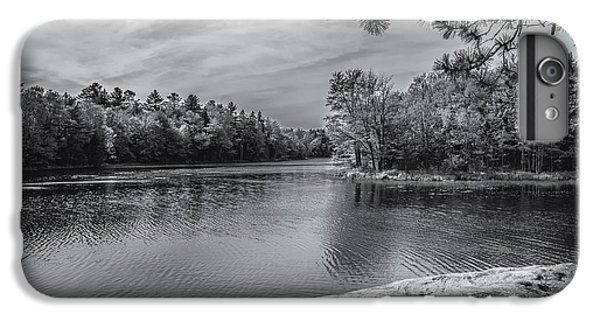 IPhone 6s Plus Case featuring the photograph Fork In River Bw by Mark Myhaver