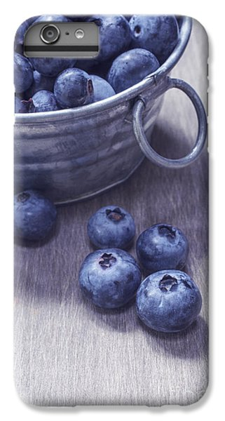 Blueberry iPhone 6s Plus Case - Fresh Picked Blueberries With Vintage Feel by Edward Fielding